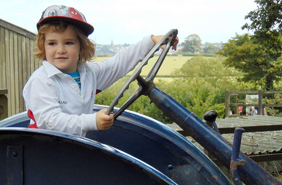 Tractor driver at Occombe