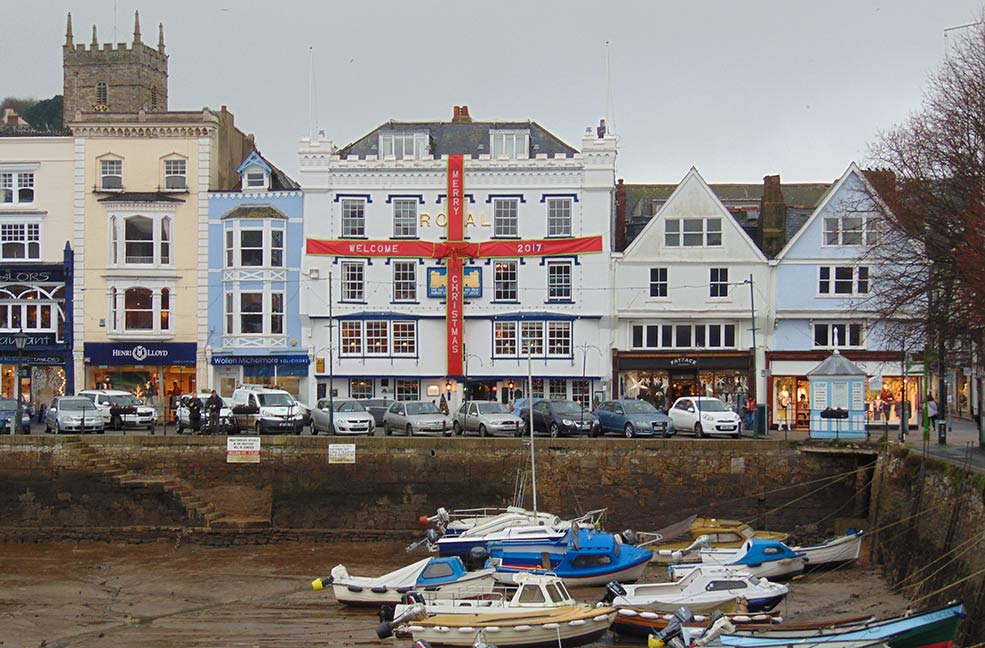 The haunted Royal Hotel in Dartmouth