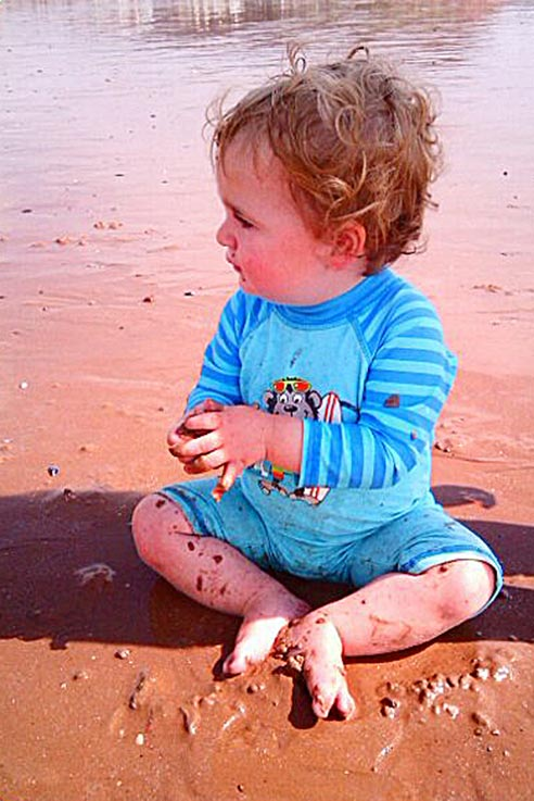 Baby friendly beach at Goodrington Sands