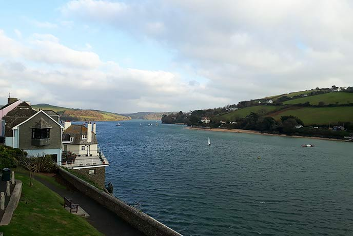The views along Kingsbridge Estuary from Salcombe are breathtaking.