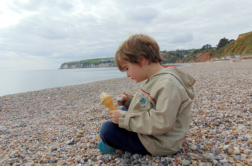 Ice cream on Seaton beach
