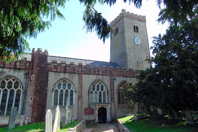 The church at Stoke Gabriel dates back to the 13th century.