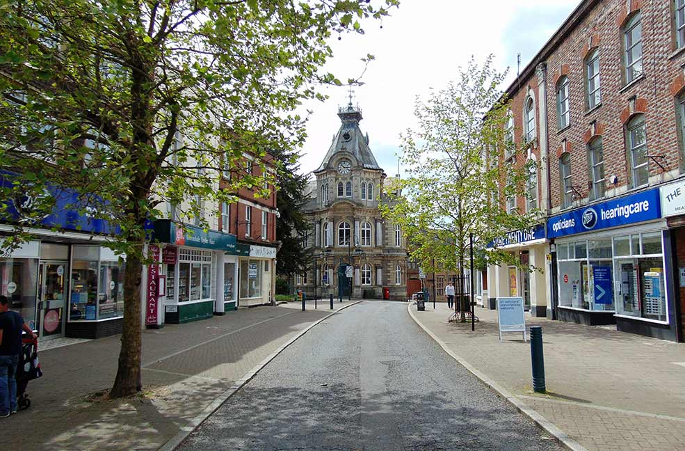 Tiverton town centre