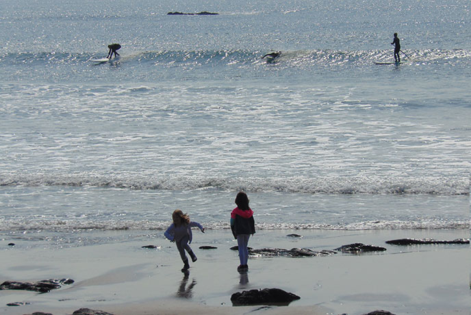 Looking out to sea on Wembury beach in south Devon.