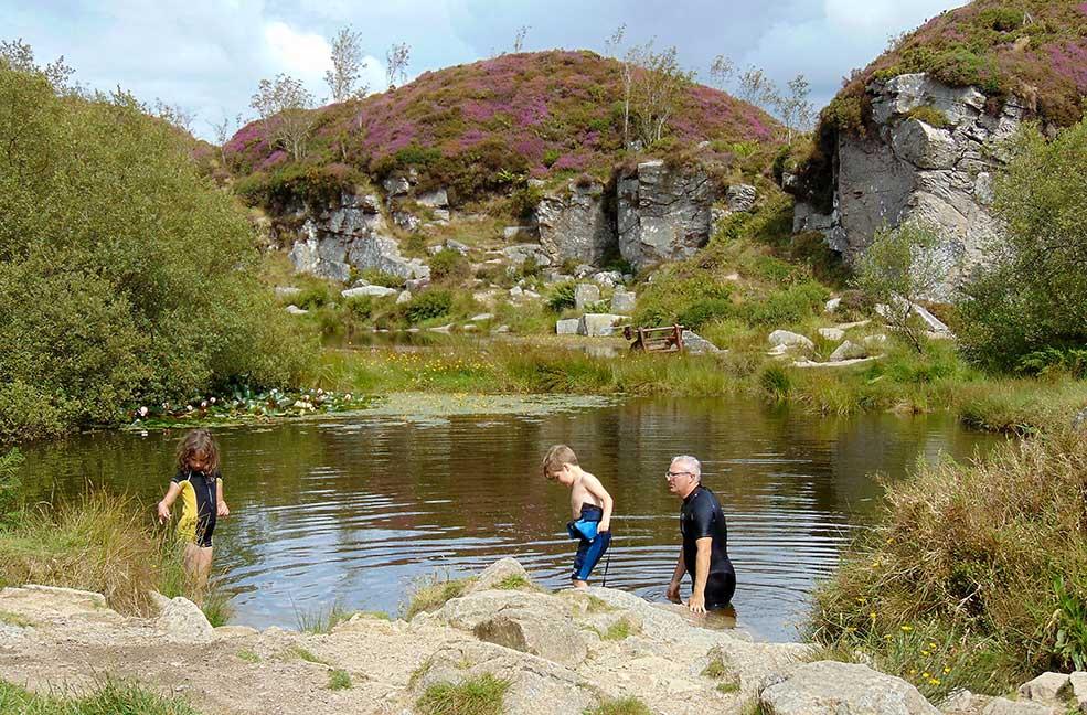 Wild swim quarry
