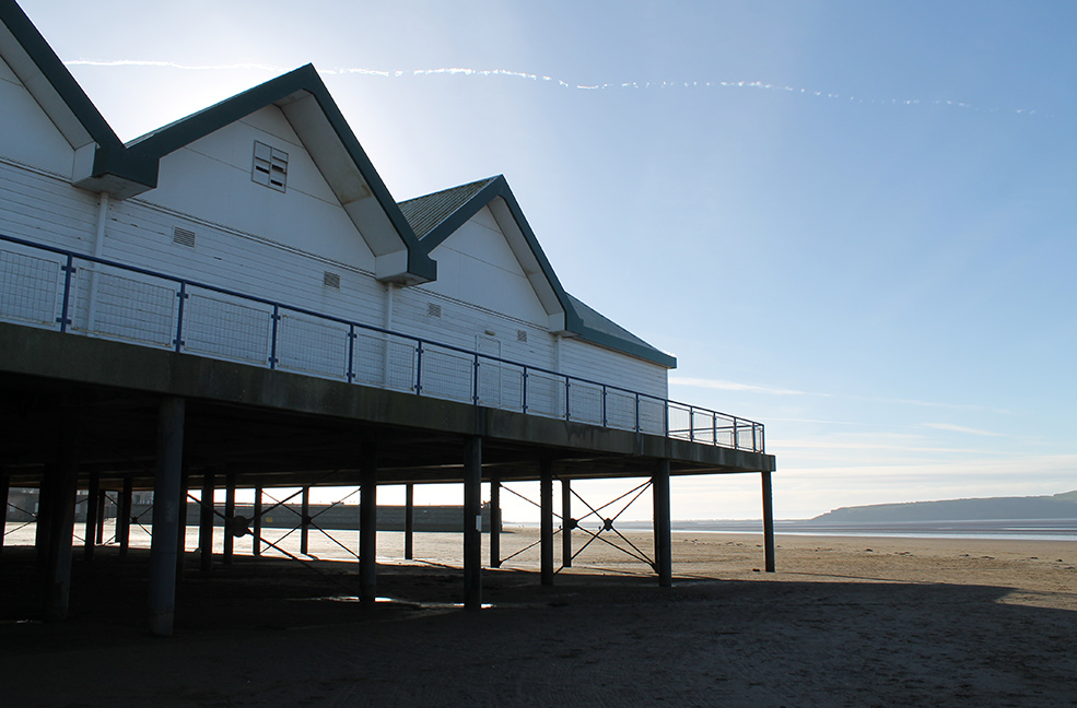 A close up of the Grand Pier at Weston Super Mare in Somerset.