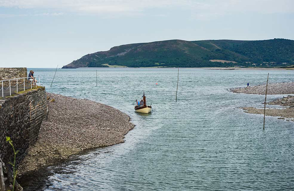 Porlock is a pretty village and beach near Minehead in Somerset.