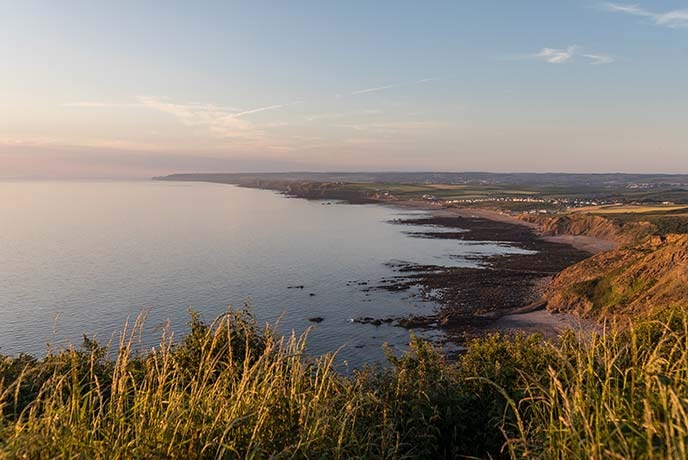 Widemouth Bay offers epic views across the sea from Bude.