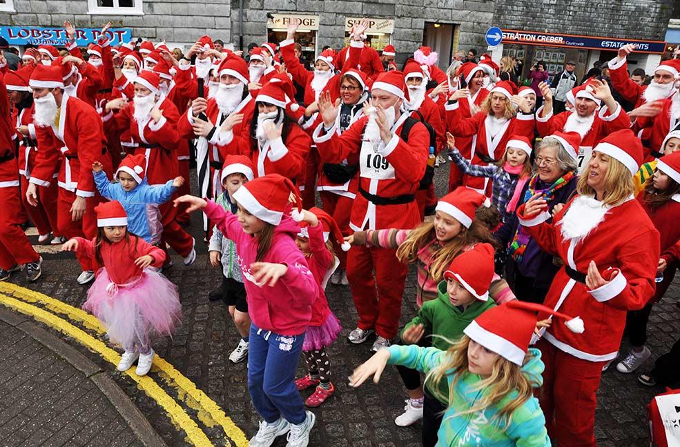 Santa run at Christmas