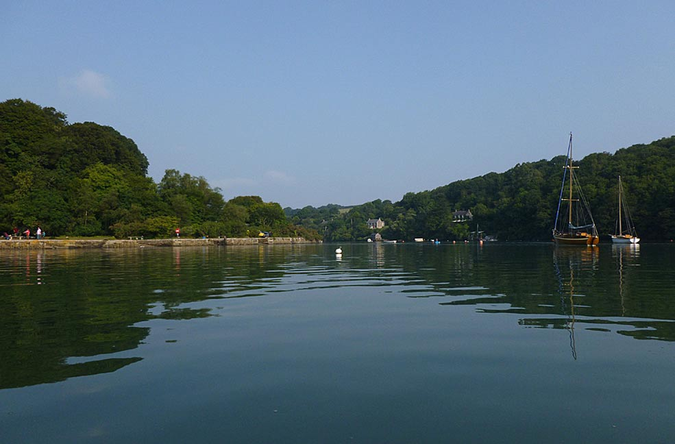 On the river: Canoeing on the Carrick Roads in Cornwall