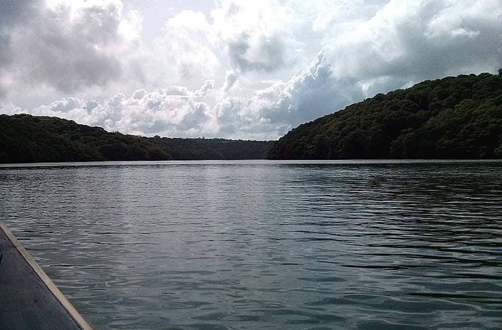 Ruan Creek wild swimming in Cornwall