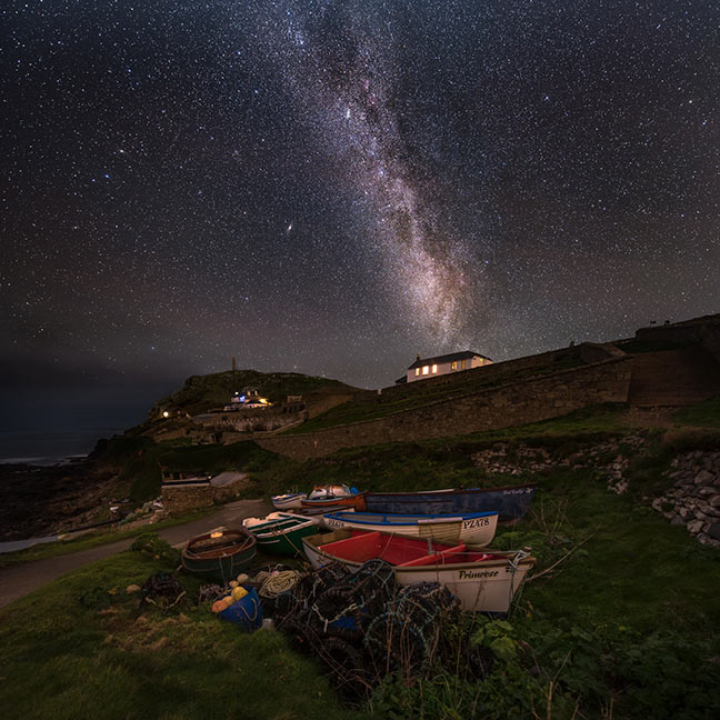 Astro photography over Cape Cornwall by Adam Ludnow