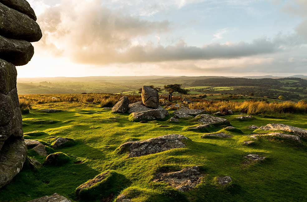 The changing weather on the moors makes for some dramatic landscape photography.
