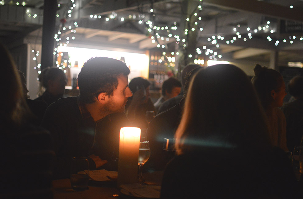 Storytelling by candle light at the Lost Gardens of Heligan.