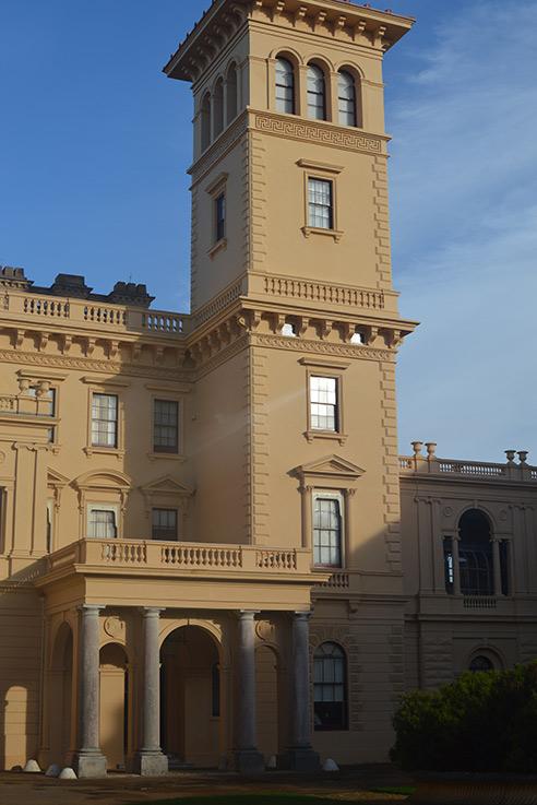 Blue skies over Osborne House