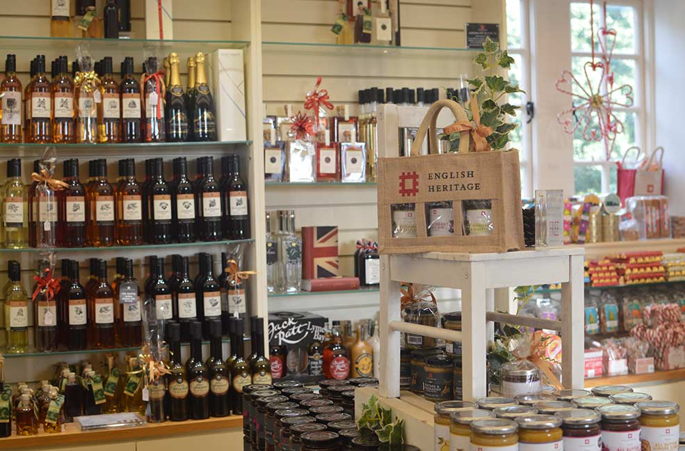 The English Heritage gift shop at Osborne House, filled with local Isle of Wight produce