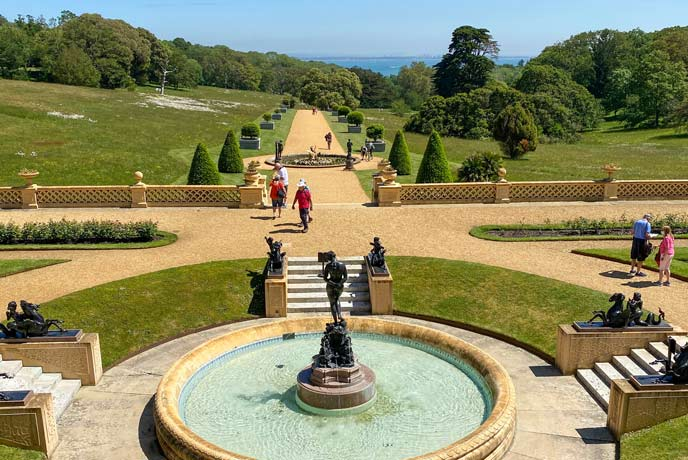 The view of the Solent from the gardens at Osborne House, Isle of Wight