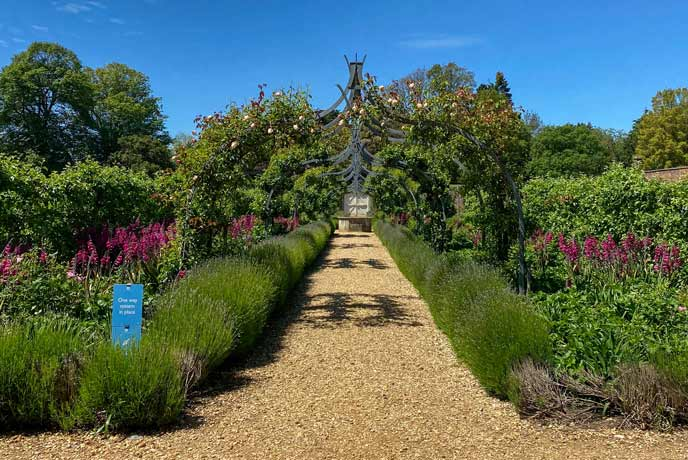 The walled garden at Osborne House on the Isle of Wight