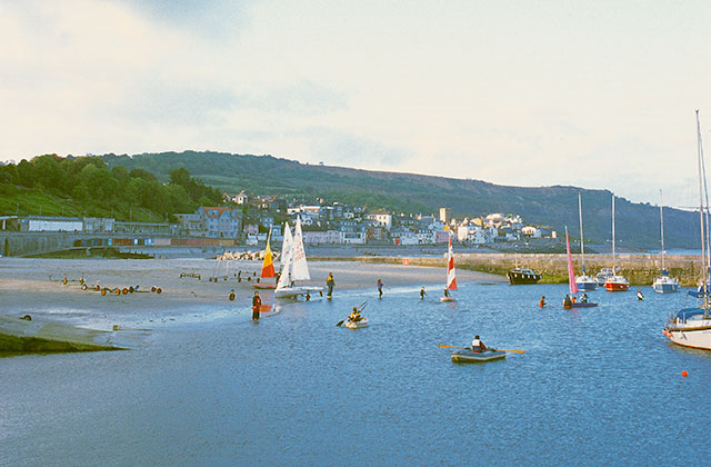 Watch the sailing at chippel bay, Lyme Regis.