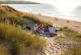 Enjoy a beach barbecue in Cornwall