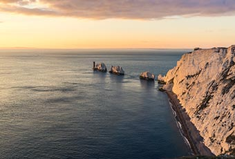 The Needles on the western tip of the IOW